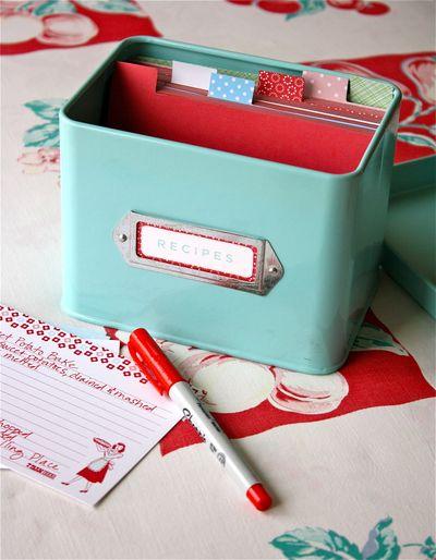 How to Make Cute Recipe Box Dividers