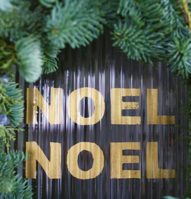 DIY Gilded Letter Christmas Window Greeting
