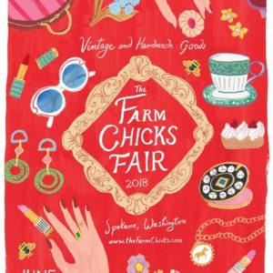 The 2018 Farm Chicks Fair Poster