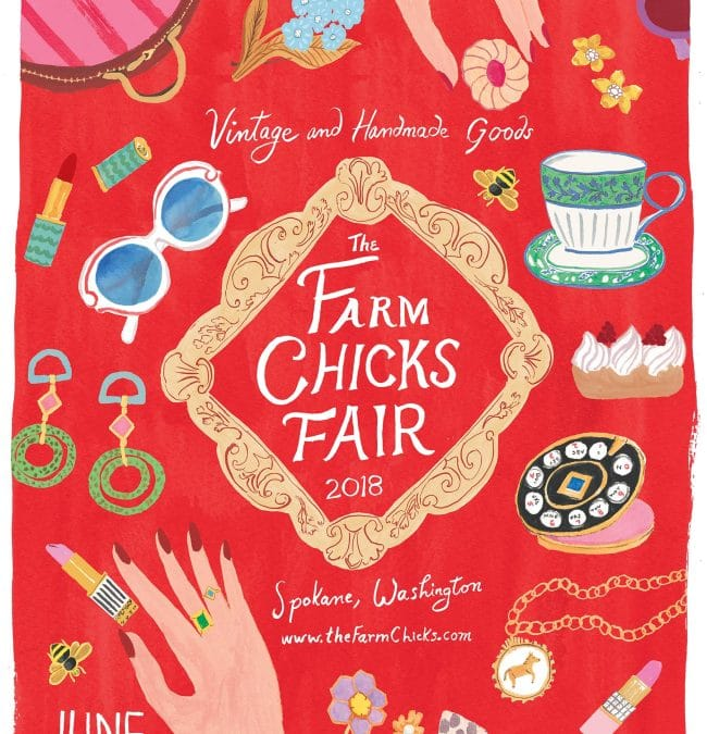 The 2018 Farm Chicks Fair Poster