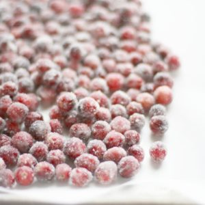 Sugared / Candied Cranberries Recipe