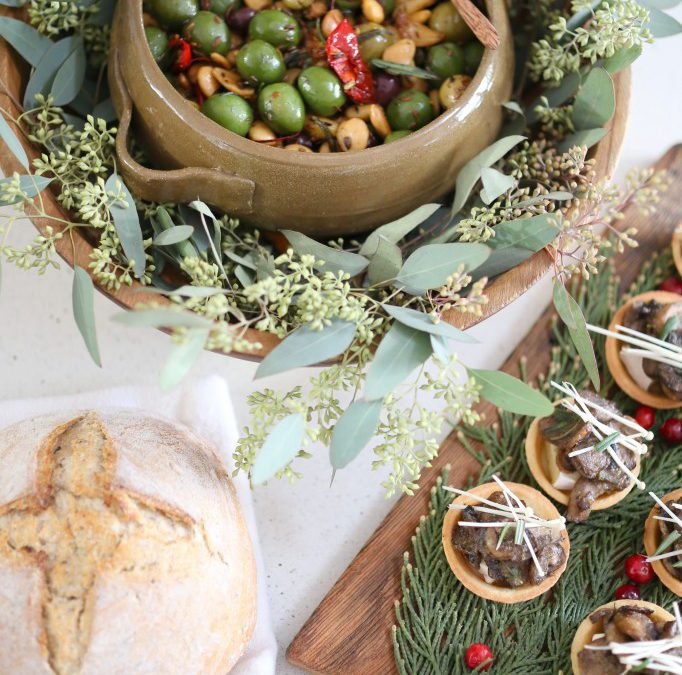 Pretty Holiday Food Serving Ideas