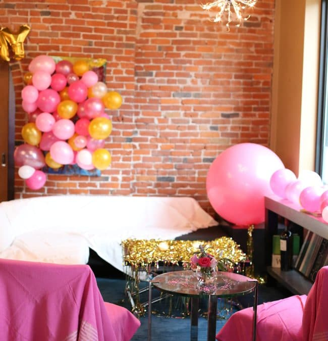 Decorating for a Party in an Event Center