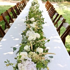 How to Make a Floral Table Runner Centerpiece