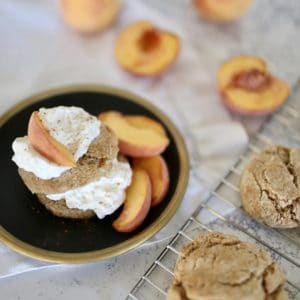 Spiced Peach Shortcakes Recipe