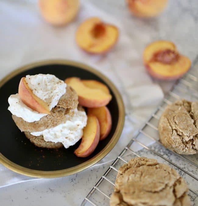 Spiced Peach Shortcakes Recipe