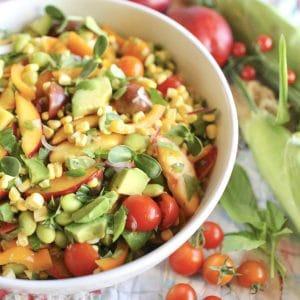 Nectarine & Corn Salad